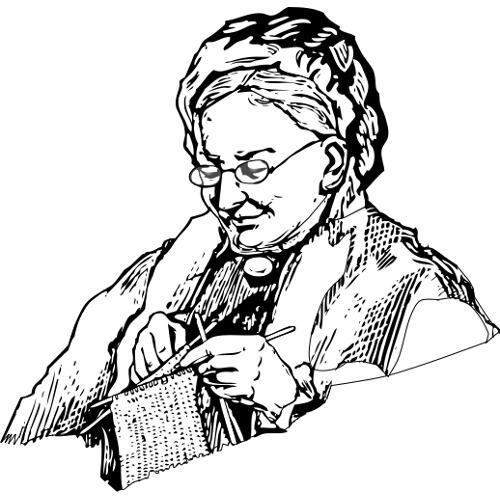 kolorowanka - babcia robi szalik