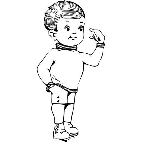 Kolorowanka - mały chłopiec - kolorowanka do wydruku, darmowe