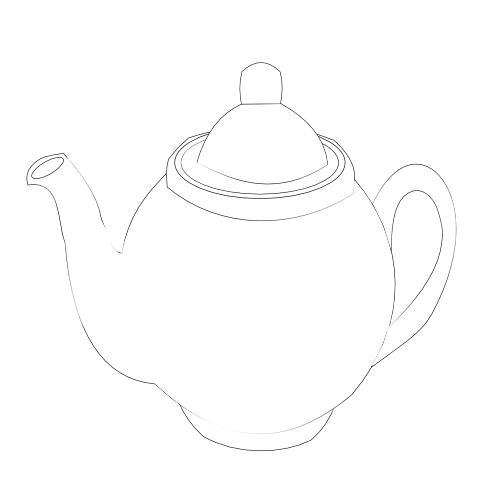 Kolorowanka kuchnia  czajnik do herbaty  kolorowanka do