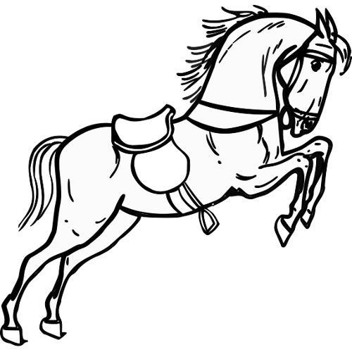 Kolorowanki Konie Skaczacy Kon Kolorowanka Do Wydruku Darmowe