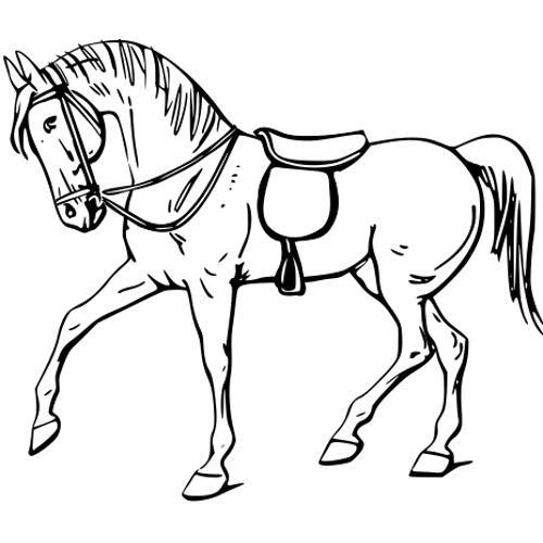Kolorowanki Konie Spacerujacy Kon Kolorowanka Do Wydruku Darmowe