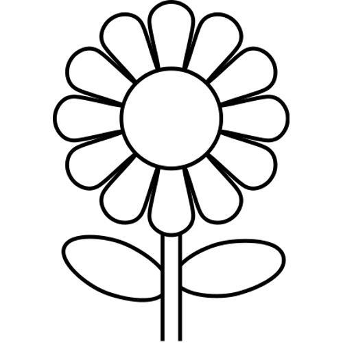 Kolorowanki kwiaty - kwiatek 61 - kolorowanka do wydruku, darmowe