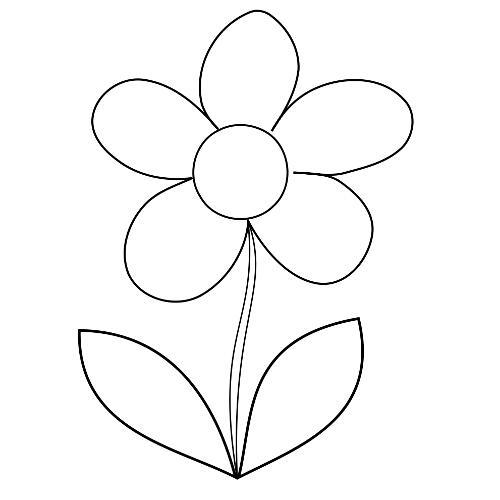 Kolorowanki Kwiaty Prosty Kwiatek Kolorowanka Do Wydruku Darmowe