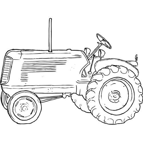 Kolorowanki Maszyny Robocze Traktor Kolorowanka Do Wydruku