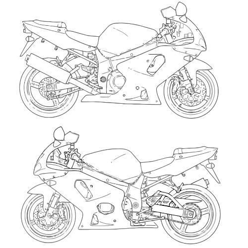 Kolorowanki Motor Motocykl Kolorowanka Do Wydruku Darmowe