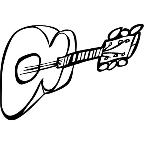 Kolorowanki Muzyczne Gitara Kolorowanka Do Wydruku Darmowe