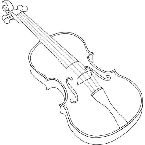 3d Line Drawing Game : Kolorowanki muzyczne skrzypce kolorowanka do wydruku