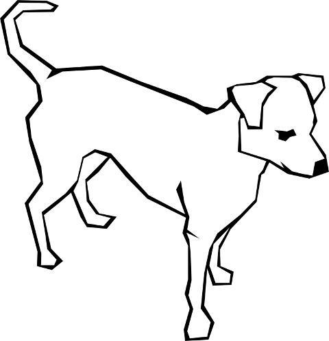 Kolorowanki Pies Na Czterech Lapkach Kolorowanka Do Wydruku Darmowe