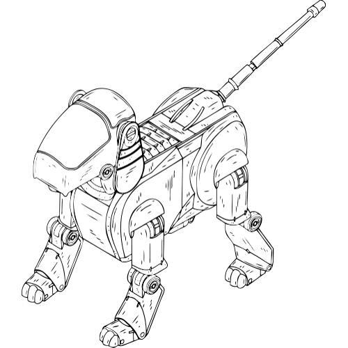 Kolorowanki Roboty Robot Pies Kolorowanka Do Wydruku Darmowe