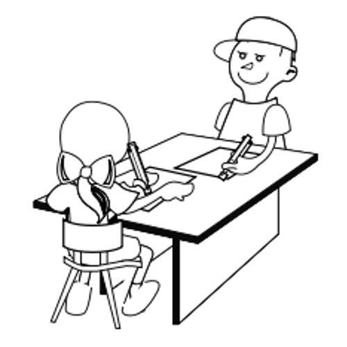 Kolorowanka Szkola Dzieci Przy Stole Kolorowanka Do Wydruku