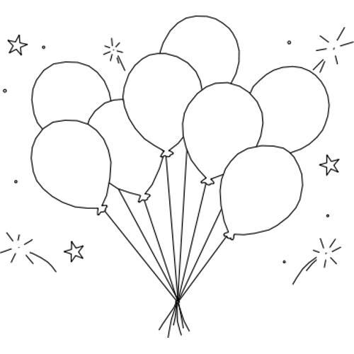 Best Strawberry Cake Coloring Pages 6452 further Birthday Stencil additionally Birthday cake outline clip art additionally Stock Photo Web Icon Set Birthday Party Celebration Image35497900 moreover Osito. on birthday balloons
