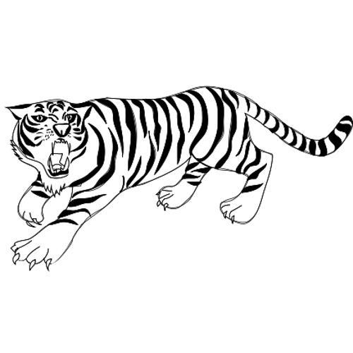 Malowanki Duze Koty Tygrys 15 Kolorowanka Do Wydruku Darmowe