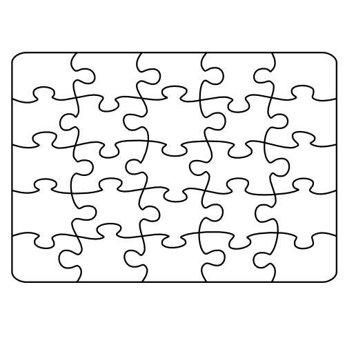 Puzzle Wlasnorecznego Wypelnienia Kolorowanka Do Wydruku Darmowe